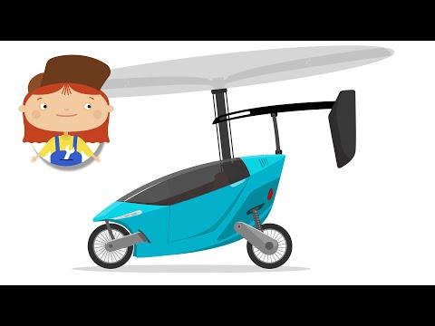 Мультики про машинки - Доктор Машинкова - Летающий автомобиль. Машина-вертолет