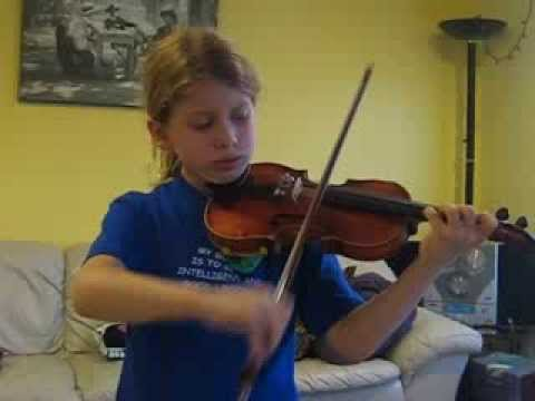 8yo G playing Gavotte from