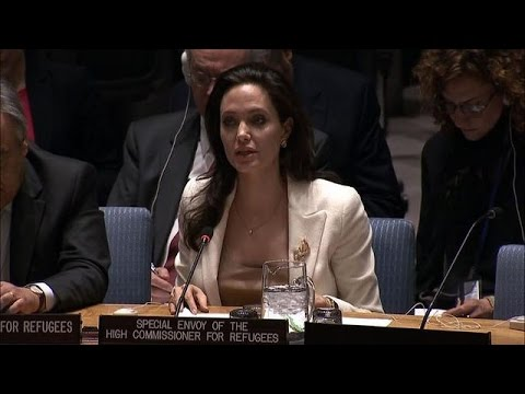 Angelina Jolie calls on UN to aid Syrian refugees