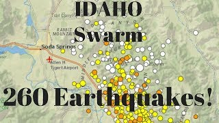 Big Quake Swarm USGS says 260 earthquakes have struck Southeast Idaho since Sept 2
