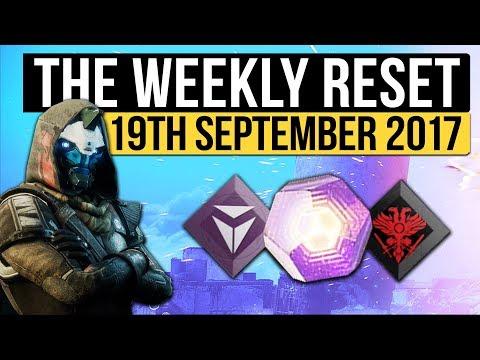 Destiny 2   WEEKLY RESET! - New Luminous Engrams, Nightfall, Milestones & Treasure (19th September)