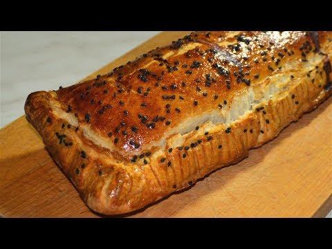 Слоёный пирог с фаршем (самый простой способ)