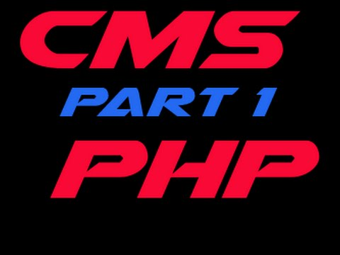 PHP CMS Project - PART 1 -  Creating login form & Creating user in MySQL Database