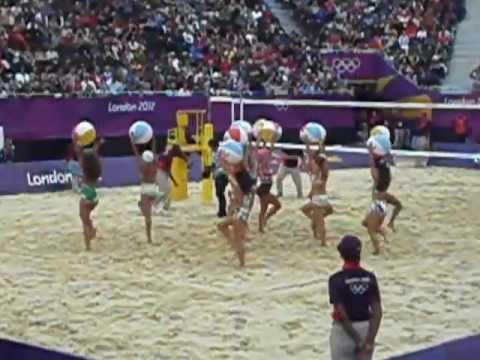 SEXY HOT olympic beach volleyball CHEERLEADERS dancers london 2012