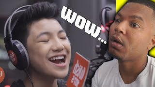 Darren Espanto sings Fantasia's 'I Believe' LIVE on Wish 107 5 Bus | REACTION