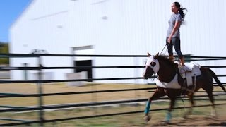 Haley Ganzel, A Trick Riding Legacy