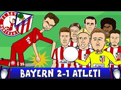 Bayern Munich vs Atletico Madrid 2-1 (UEFA Champions League Semi-Final 2016 2nd Leg 15-16 Parody)