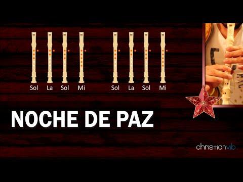 Noche de Paz Flauta Notas Explicadas Noche de Paz en Flauta