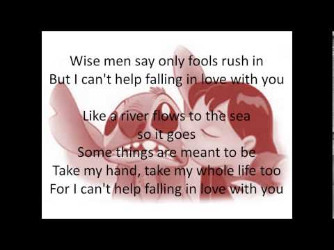 Can't Help Falling in Love lyrics Lyric Video