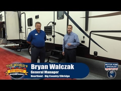 Heartland Elkridge Luxury 5th Wheel RV Review at MHSRV.com Worlds RV Show 2014 2015