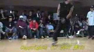 Be.B-Boy 2007 SOUTH JAM vs GARAPAGO SemiFinal Part1