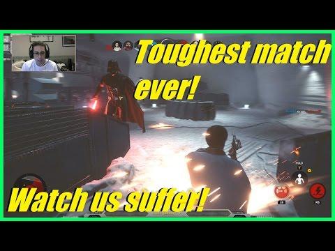 Star Wars Battlefront - The toughest match EVER! | Watch us suffer! | OMFG! (HvsV)