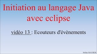 Java avec eclipse - video13 - Interface d