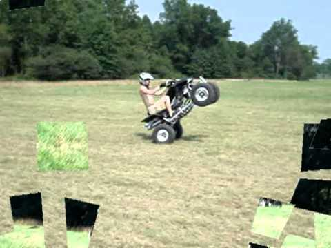 Honda TRX450R Wheelies