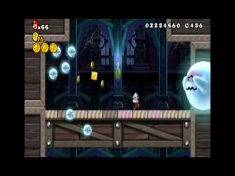 Mario Ghost House 3 Wii World 3-ghost House All