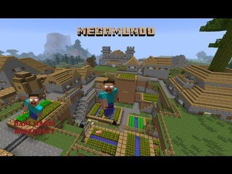 Mega mundo de minecraft. Final de la 1º temp: fábrica de hierro y link de descarga!!