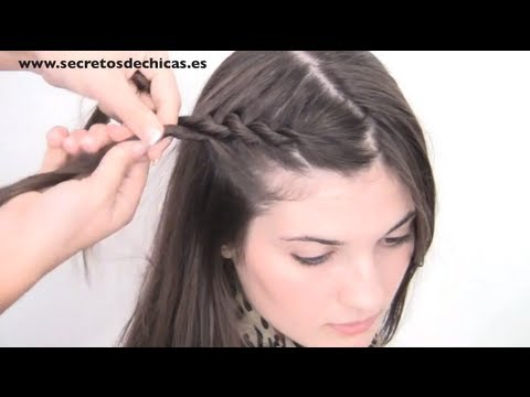 "PEINADO: TRENZA DE CORDÓN "" Braid two ends"""