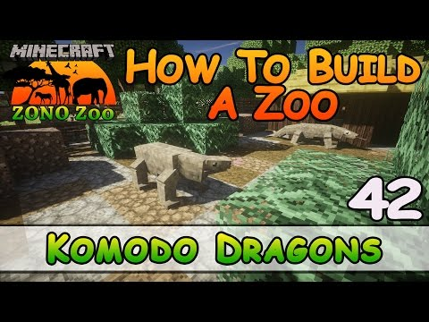 Zoo In Minecraft :: Komodo Dragons :: How To Build :: E42 :: Z One N Only
