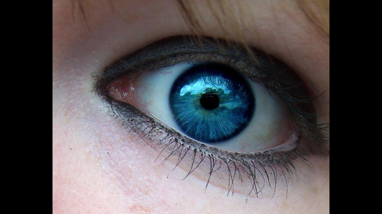 Как сделать цвет глаз более голубым
