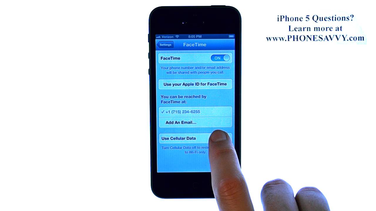 how to find facetime on iphone 5
