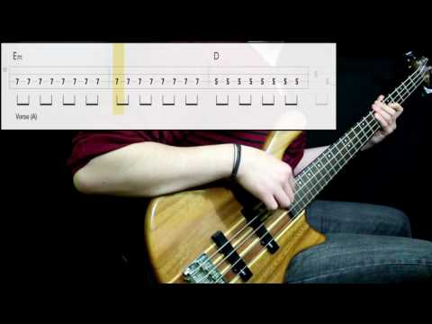 Black Sabbath - Paranoid (Bass Only) (Play Along Tabs In Video)