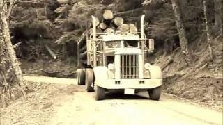 Tims 48 Peterbilt logging truck  on Sumas Mt.