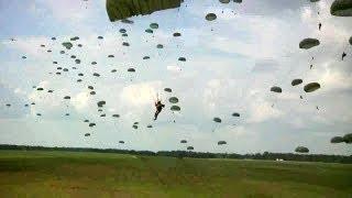 Army Rangers Airborne Assault Parachuting
