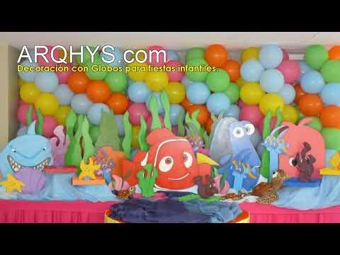 Decoracion con globos para fiestas infantiles