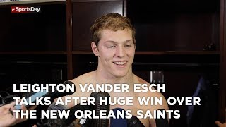 Leighton Vander Esch talks after huge win over the New Orleans Saints