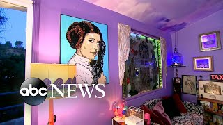 An exclusive live look inside Carrie Fisher's unique home