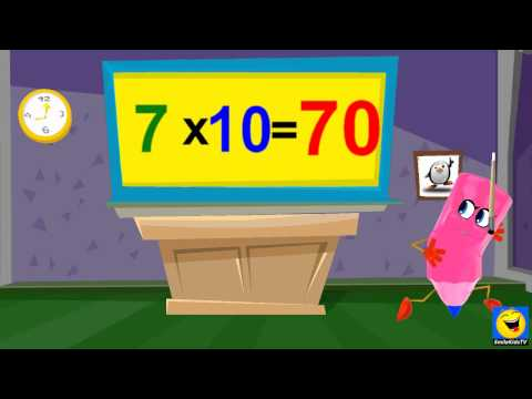 Multiplication  7 Times Table Twice  Kids Songs With Lyrics