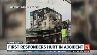 First responders hurt in ambulance accident