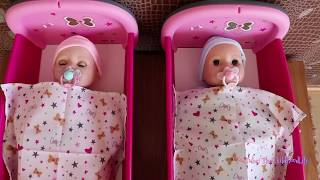 Baby Dolls Bunk bed Double Cot and Twin Bed Set Up and Play Baby Born Baby Annabell Bedtime