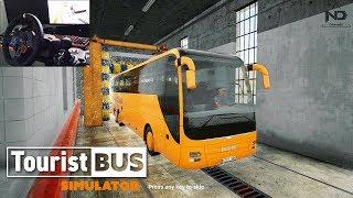 Tourist Bus Simulator #5 - Ngày nghỉ đi sửa xe, sơn xe và rửa xe (Logitech G29 Gameplay)