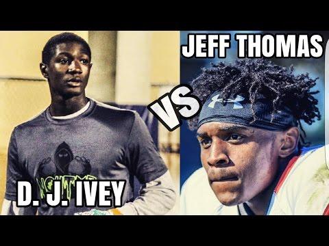 Miami Hurricanes - 1 on1 - DJ Ivey (CB) vs Jeff Thomas (WR) -