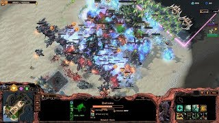 Starcraft 2 - Arcade - Direct Strike - 3vs3 - Commander Dehaka - #77 - Epic Fight