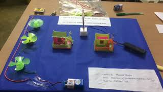Simple solar to electrical and electric to mechanical energy conversion model