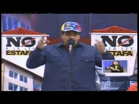 Nicolás Maduro recibe la marcha en defensa de la Gmvv