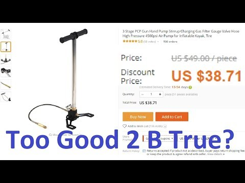 Review: Dirt Cheap 4500 PSI Hand Pump from China