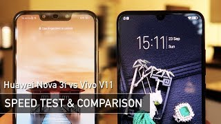 Huawei Nova 3i vs Vivo V11 SPEED TEST | Zeibiz