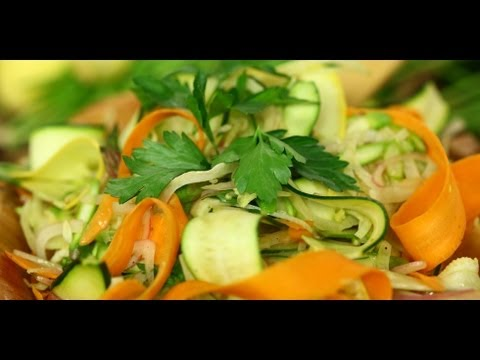 Ribboned Summer Vegetable Salad | Healthy Recipes | Food How To