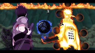 Naruto and Sasuke Vs Madara (English Dub) [60FPS] Full HD