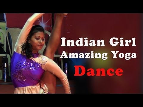 Indian Girl Amazing Yoga Dance - Red Pix
