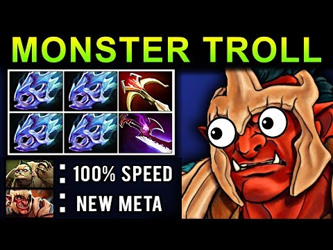 MONSTER TROLL WARLORD DOTA 2 PATCH 7.07 NEW META PRO GAMEPLAY