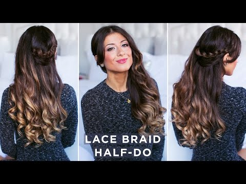 Lace Braid Half-Do Hairstyle