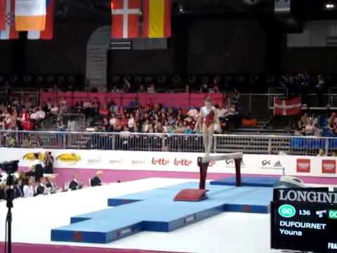 Youna DUFOURNET FRA, Beam Senior Qualification, European Gymnastics Championships 2012