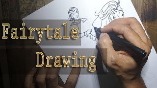 How to ink a page in fairytale style
