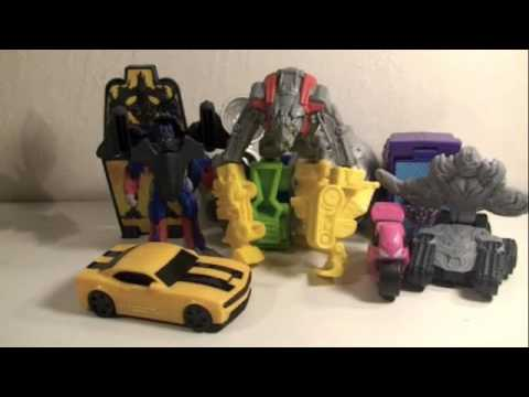 Transformers 2 ROTF Movie Burger King Kids Meal Toys Review