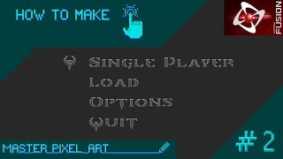 Pixel Art: QUAKE MAIN MENU How To Make #2