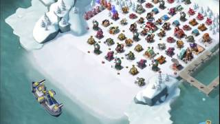 Boom Beach — Barracuda and RMZC 64/68/84 vs boosted ice bases